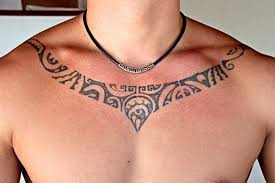 Luxurious Chest Tattoos On The Necklace Nice Tribal Tattoo For Men
