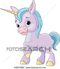 Illustration Of Cute Baby Unicorn