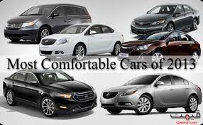 fortable cars of 2013