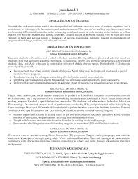 Amazing Special Education Teacher Objective For Resume 60 In