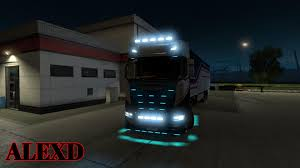 100 Lights For Trucks ALEXD FLARE AND 10000K LIGHTS FOR ALL TRUCKS V19 ETS 2 Mods