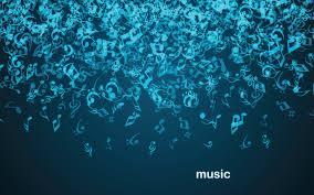 Gravity Notes Dark Blue Background Music Fall