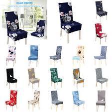 details zu 1 4 6pcs stretchhussen esszimmer stuhlhussen stretch stuhlbezug stuhlüberzug neu