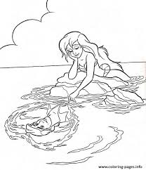 Ariel Always Thinking About Eric Little Mermaid S8973 Coloring Pages