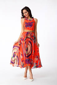 online get cheap printed chiffon gowns aliexpress com alibaba group