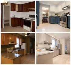 Cabinet Refinishing Kit Before And After by Kitchen Paint Kitchen Cabinets Before And After Desjar Interior