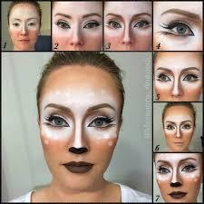 Deer makeup tutorial Halloween Tutorials Pinterest