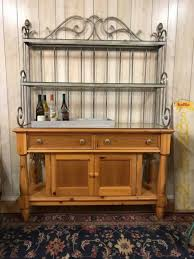 Sideboards Astonishing Metal Kitchen Hutch Buffet Sideboard For Industrial With Vintage