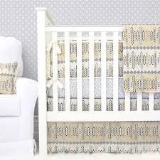 graham s golden tribal crib bedding caden lane