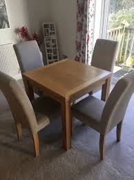 Small Oak Extendable Dining Table And Four Chairs | In Plymouth, Devon |  Gumtree Solid Oak Table And Chairs Valencia Small Oak 160cm Glass Ding Table With Lola Fabric Chairs Canterbury Extending 4 Adina In Black Set For 2 Best Fniture For All Home Types Of Ideas Barley Twist X4 7 Round Room Tables Perfect Spaces Oakvale With Details About 5 Piece Square Antique White Dark Go To Chinesefnitureshopcom