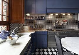 schachbrett fliesen küche interieur eklektische küche