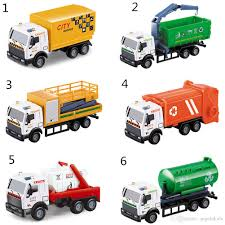 100 Toy Tanker Trucks Kid Carrier S Pull Back Alloy Car Sanitation Car Series