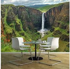 oedim vinyl wand wasserfall afrika verschiedene maße 100x70 cm dekor esszimmer wohnzimmer zimmer