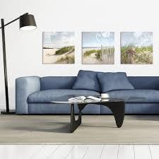 glasbild 50x50cm wohnzimmer meer strand düne