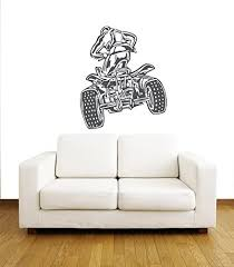 wandtattoo atv racing rider motorrad