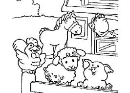 Free Coloring Pages Of Farm Wall