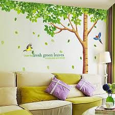 sworna nature series large tree with birds kids nursery removable