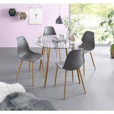 my home glastisch miller runder esstisch mit einem ø 100 cm