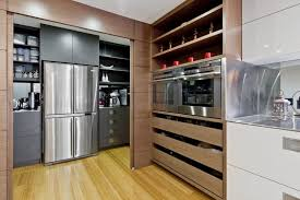 Opened Storage Area Of Modern Kitchen In Japanese And Australian Design