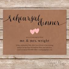Rustic Rehearsal Dinner Invitation Wedding Invitations Invites Printable Printed