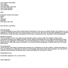 Cover Letter Template For Job Application Start With A To Be Sure You Include All The Required Information In Your Letters