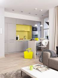 cuisine et salon dans la meme attrayant cuisine et salon dans la meme 2 cuisine jaune