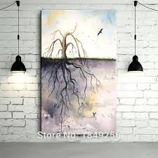 Tree Root Moral Pay And Effort Are Equal Abstract Designed Handmade Oil Painting On Canvas