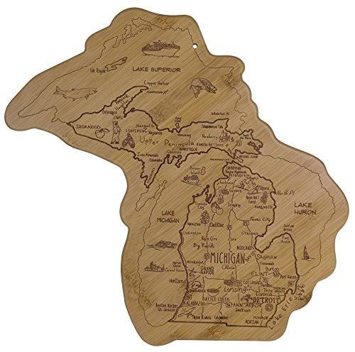 Totally Bamboo Destination Michigan Cutting & Serving Board