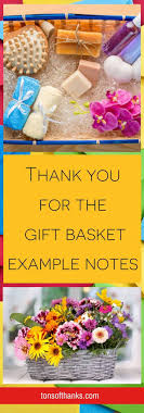 Thank You For The Gift Basket Example Notes