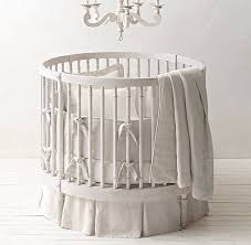 Round Bassinet Bedding by Washed Organic Linen Round Nursery Bedding Collection