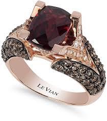 Le Vian Raspberry Rhodolite Garnet 3 ct t w Chocolate Diamond