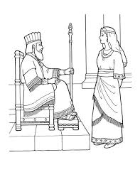 King Nebuchadnezzar And Queen Colouring Page