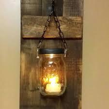 Rustic Wood Candle Holder Decor Sconce Lantern Mason Decorative Wall Sconces Holders Uk
