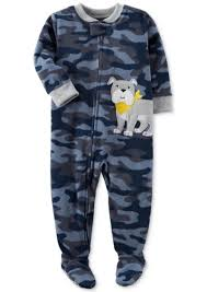 SALE! Carter's Carter's 1-Pc. Camo-Print Dog Footed Pajamas, Toddler ...