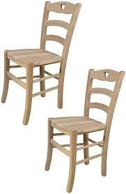 tommychairs 2er set stühle cuore für küche und esszimmer robuste struktur aus poliertem buchenholz unbehandelt und 100 natürlich sitzfläche aus