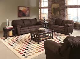 Living Room Drawing Color Combination Leather Sofa Flooring Stand Lightings Black Stained Wooden Arm