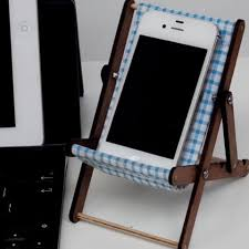 For Sale Phone Stand Decking Chair In Blue Checks.... - Depop