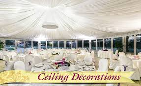 Ceiling Wedding Decorations 7 Ideas On How To Decorate A Reception Hall Make It Stand Out