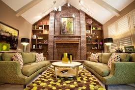 lighting for vaulted ceilings living room eclectic with beige