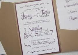 Rustic Wedding Invitation Kits Lovely Kraft Pocket Country Twine Purple