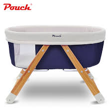 POUCH Portable Baby Bed Foldable Baby Crib Pine baby rocking