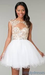 prom dresses white and gold short long dresses online