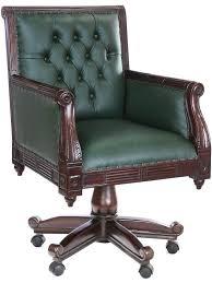 fauteil bureau fauteuil de bureau en acajou massif et capitonné chesterfield meuble