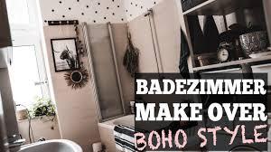 kleines badezimmer einrichten im boho style badezimmer makeover julies dresscode