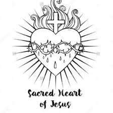 Coloring Page Of Disney Castle Sacred Heart Jesus Vector Illustration Black Isolated On White