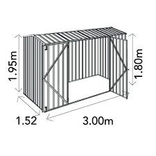 Shed Anchor Kit Bunnings by Absco Premier Garden Shed 3mw X 1 52md X 1 95mh 30152gk In