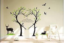 amazon com tree deer wall decal love tree bird wall decal tree