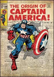 Vintage Superhero Wall Decor by Captain America Wall Art Mini Captain America Costumed Cartoons