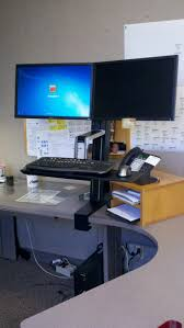 Dual Monitor Stand Up Desk by 52 Best Stand Up Desk Images On Pinterest Stand Up Desk Office