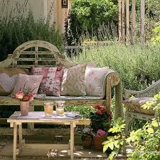 Country Garden Patio Space Home Outdoors Style Rustic Decorate Ideas Small